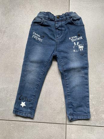 Dżinsy, jeansy r. 92