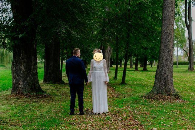 Suknia boho ślubna