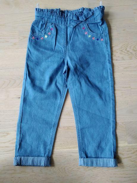 Spodnie, cieńki jeans, r. 92, C&A, NOWE