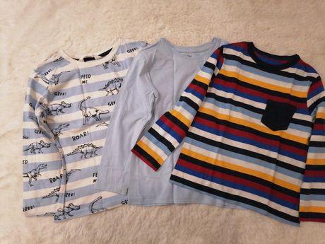 Bluzki długi rękaw h&m 110 /116