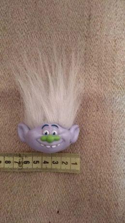 Игрушка волосатый тролль голова на ручку,карандаш из Макдональдс