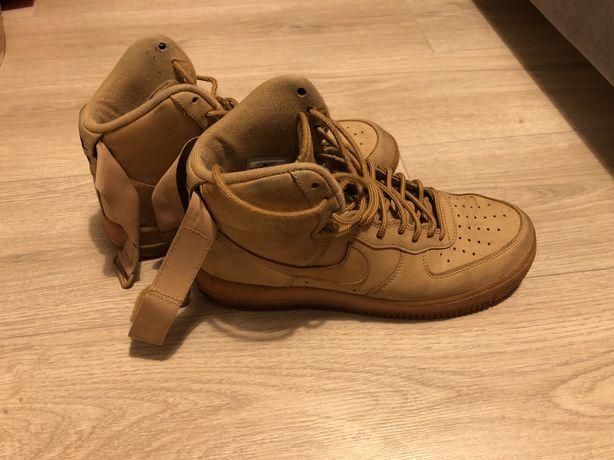 Buty Nike AF1 MID Brązowe/musztardowe r.43