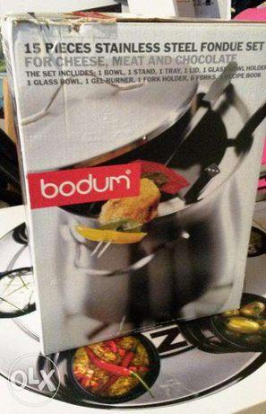 Fondue BODUM em inox com prato para molhos giratório