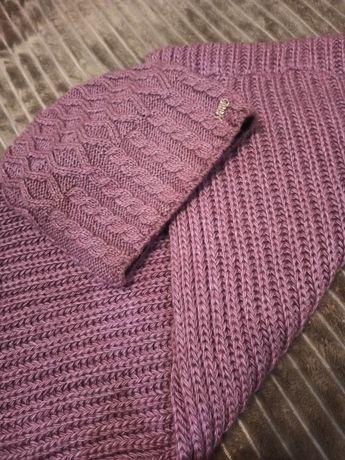 Зимовий шарф-хомут та шапка