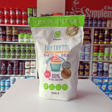 Intenson Erytrytol 500g zamiennik cukru 0 kcal, naturalny słodzik