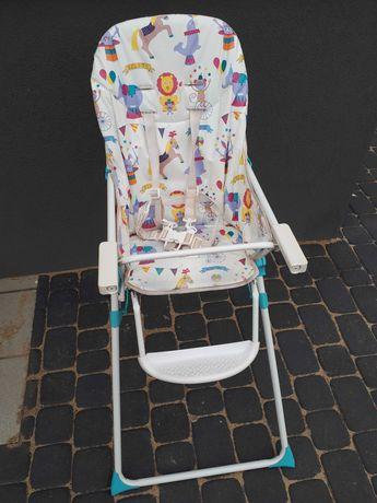 Krzesełko do karmienia dla dziecka składane z tacą Gratis autka!!!