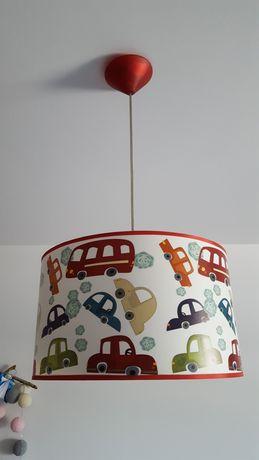 Lampa wisząca AUTKA z kolorowym abażurem w kształcie walca