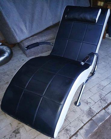 Super designerski fotel bialo czarny! Mega wygodny!