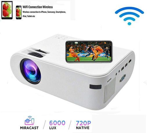 Projetor led ANDROID+WiFi+bluetooth+keystone digital/1080P (NOVOS)