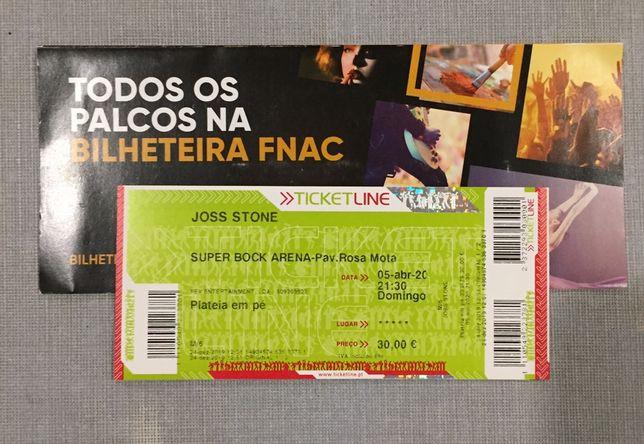 Joss Stone - 2 bilhetes