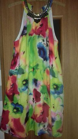 Sukienka kolorowa luźna bodyfilt 40 42