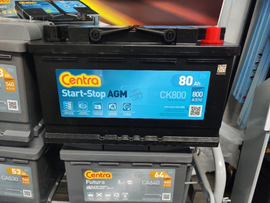 Akumulator Centra Start-Stop AGM CK800 12V 80Ah 800A P+ Kraków EK800 Kraków - image 1