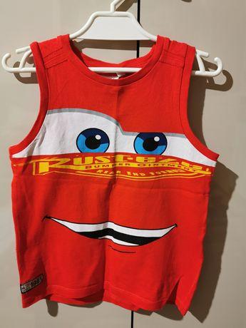 Bluzka koszulka bez rękawów naramki chłopiec 110 zygzak mc queen