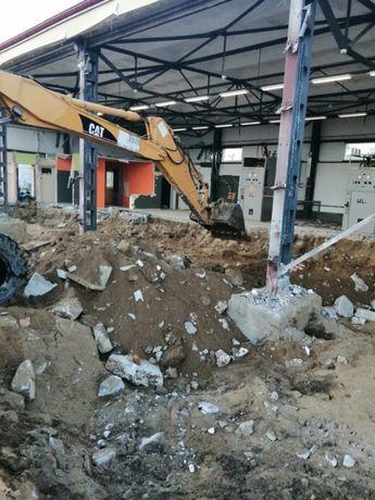 Rozbiórki, drenaże, wyburzenia, wykopy, płyty betonowe Dobre Miasto