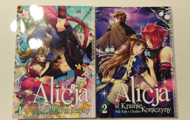 Dwa tomy mangi Alicja w krainie koniczyny