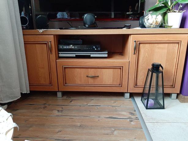 Zestaw mebli witryna szafka pod tv i komoda - barek