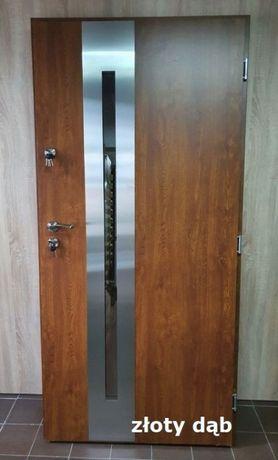 """Drzwi zewnętrzne GRUBE 72mm model """"RON"""" produkt POLSKI SZYBKA DOSTAWA"""