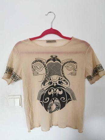 Bluzka w hawajskie wzory, rozmiar M-L
