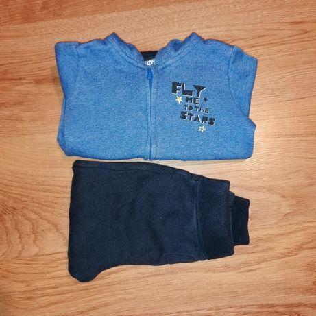 Bluza rozpinana z kapturem i spodnie dresowe Lupilu r. 86/92