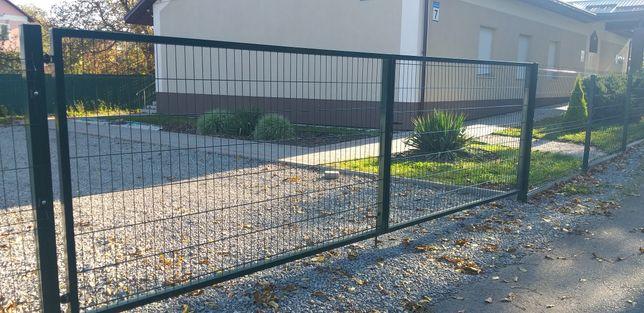 Ворота   5 метрові з замком    з профілю 40/40  ппл  покритя