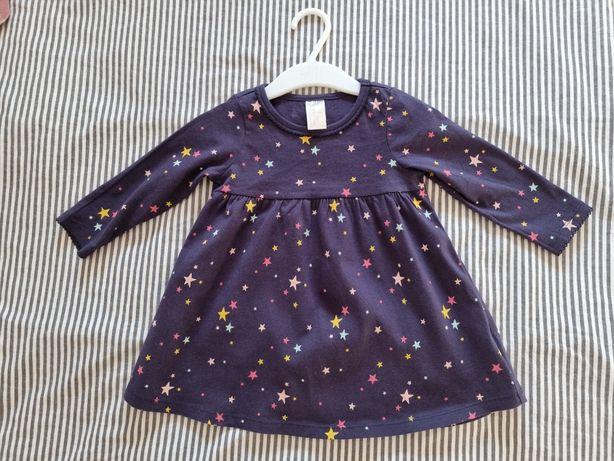 H&M Nowa sukienka w gwiazdki rozm 80