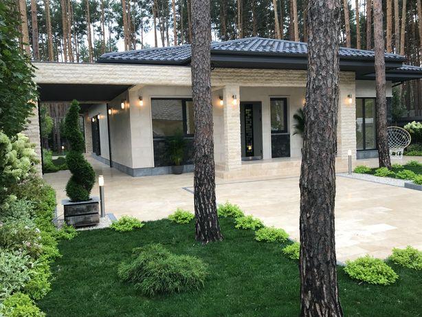 Одноэтажный дом в лесной зоне города под чистовую