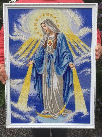 Картина  бисером Дева Мария в лучах , непорочное зачатие Девы Марии