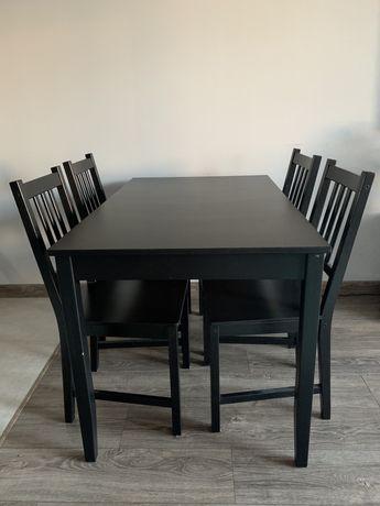 Stół Lerhamn + cztery krzesła Stefan IKEA