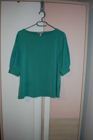 bluzka elegancka H&m w rozmiarze M miętowy zielony