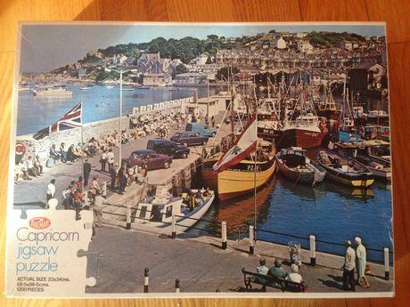 Puzzle 1200 - wybrzeże, port, Anglia Brixham