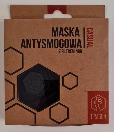 Maska Dragon Casual II Black Rozmiar S Filtry N99