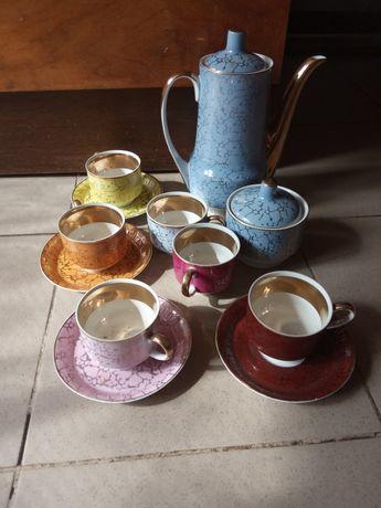 Serwis kawowy porcelana Ćmielów prl