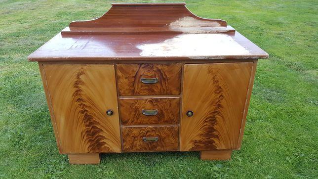 Stara drewniana komoda / toaletka / bufet / pomocnik art deco vintage