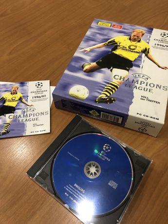 Jogo PC UEFA Champions League 1996/1997 Caixa Grande Cartão Muito Raro