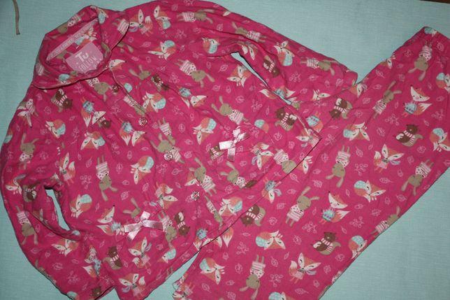 Нежная байковая пижама ф.tu девочке 2/3года,отличное состояние