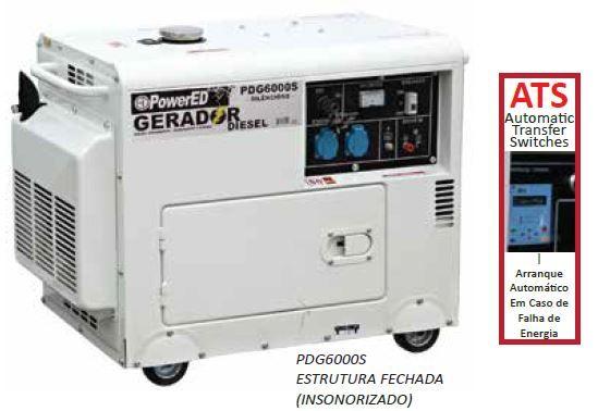 Gerador de Energia Trifásico, Insonorizado com quadro de falha de rede