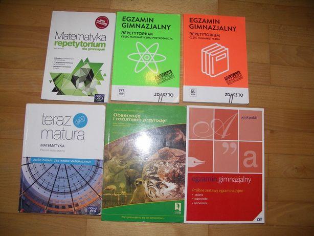Książki do egzaminów gimnazjalnych