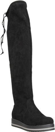 Muszkieterki buty za kolano kolor szary popielaty jesień zima wkł.25,5