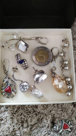 Biżuteria srebrna że srebra kolczyki wisiorki