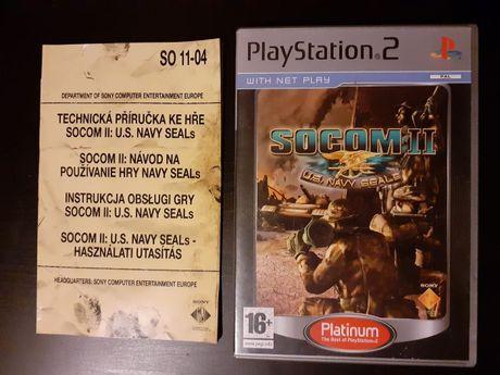 SOCOM 2: U.S. Navy SEALs gra PS2/Playstation 2 100 % sprawna