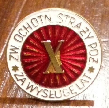 Odznaka za wysługę lat X OSP Straż Pożarna