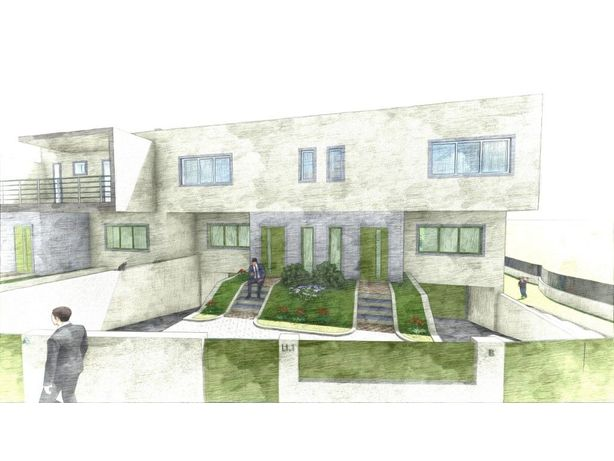 Terreno com projeto para construção de moradias
