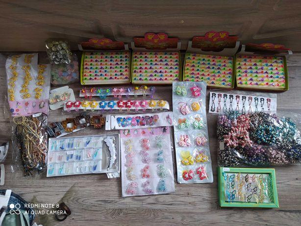 Резинки, заколки, приколки, жабки, дитячі, детские, для дівчинки