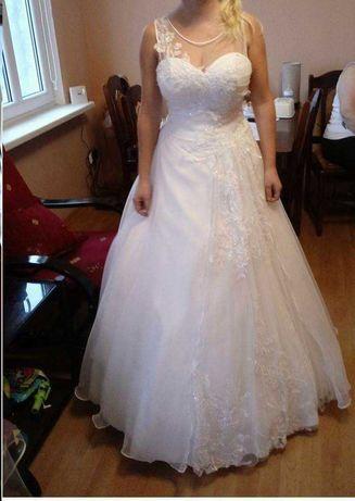 suknia ślubna biała litera A - cena do negocjacji