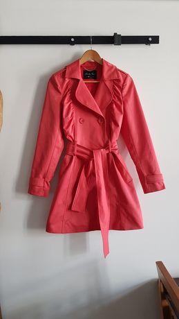 Trencz r S Pretty Girl różowy klasyk elegancki