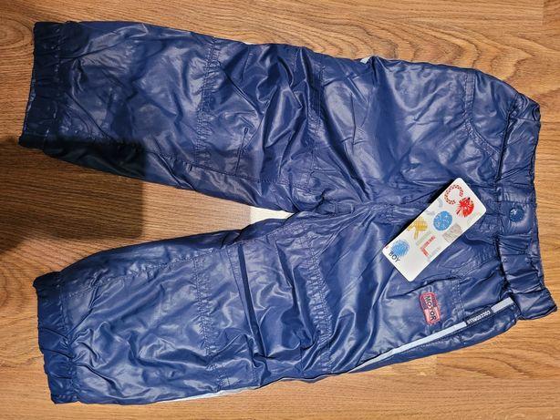 Nowe chlopiece spodnie zimowe rozmiar92