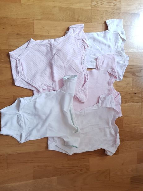 Body niemowlęce niemowlęce krótki rękaw 62 68