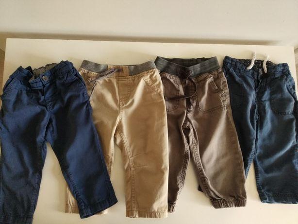 Spodnie materiałowe rozm. 86