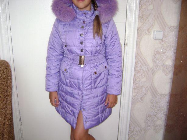 Зимнее пальто для девочки