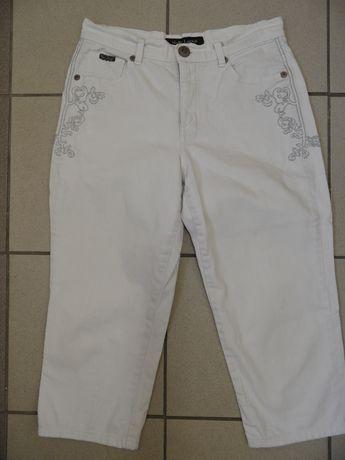 Dżinsy jeansy rybaczki białe MARC LAUGE pas 80 cm